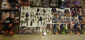 Star wars figures some new in box.